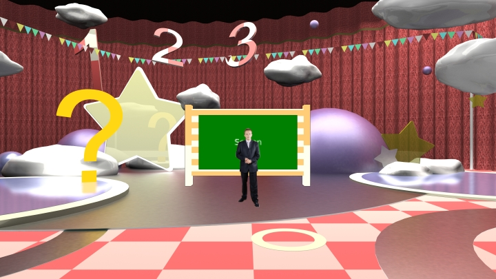 Puzzle Game TV Show Virtual Set