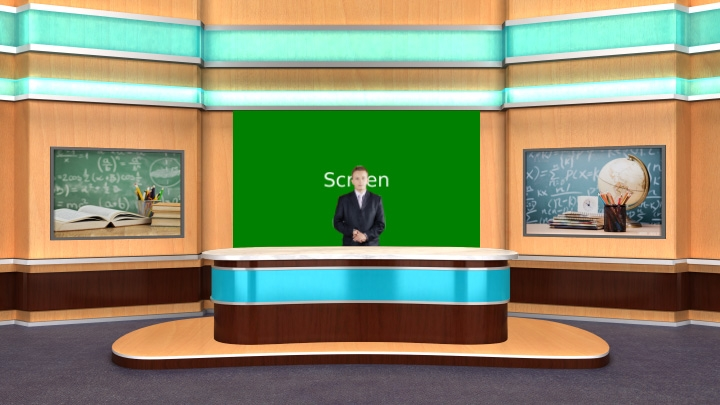 Educational Virtual Lecture Classroom Set