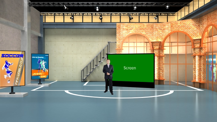 Sport News Virtual Set