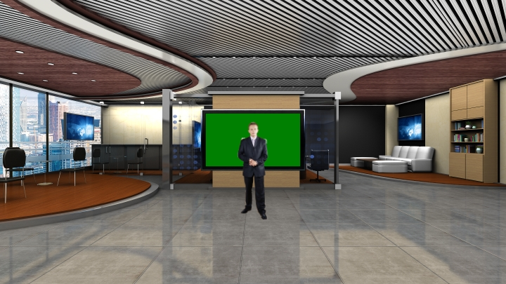 Spacious Meeting Room Virtual Set