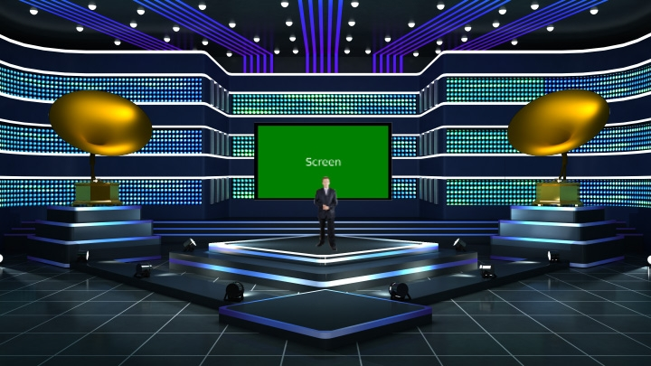 LED Entertainment Stage Virtual Studio