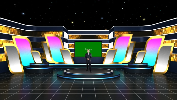Virtual Star Stage Studio Set