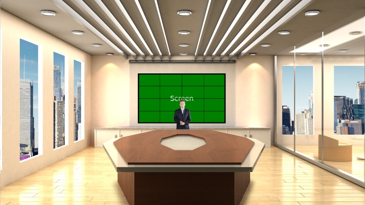 Bright Office Virtual Studio Set