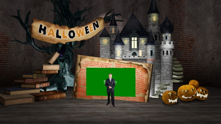 Halloween Festival Virtual Studio Set