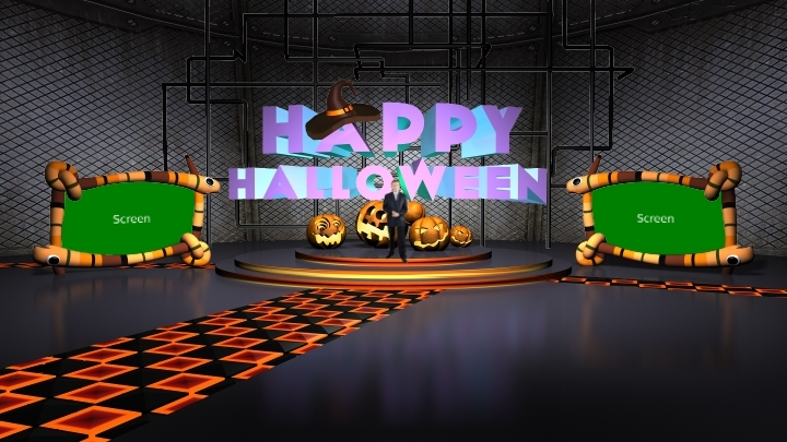 Halloween Festival Virtual Studio Set-2