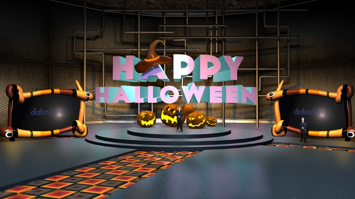 【TVS-2000A】Halloween Festival Virtual Studio Set