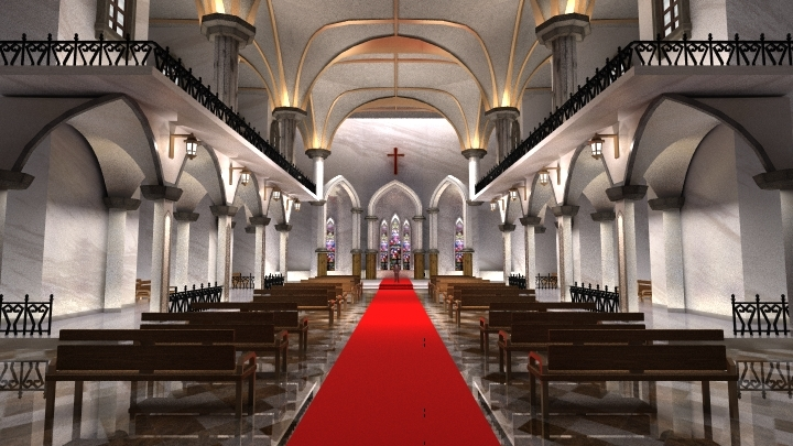 Traditional Cathedral Virtual Studio