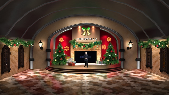 【TVS-2000A】 Christmas Decoration Virtual Studio Set
