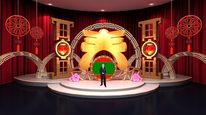 Chinese New Year Decoration Virtual Studio Set-2