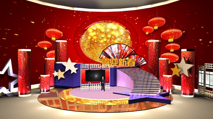 【TVS-2000A】Chinese New Year Decoration Virtual Studio Set-1