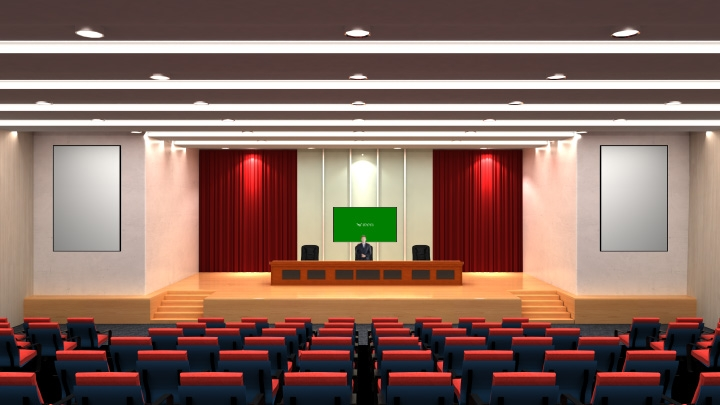 Educational Lecture Hall Virtual Studio Set