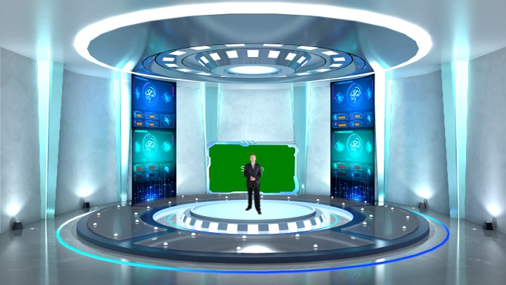 Scientific Medical Scene Virtual Set