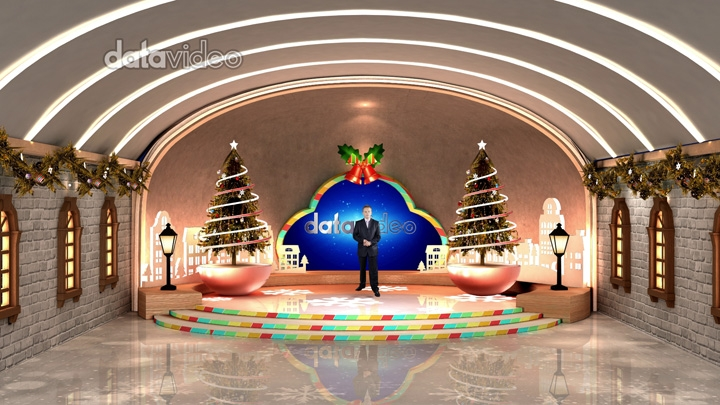 Colorful Christmas Virtual Studio Set