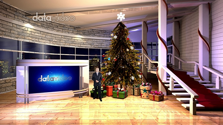 Modern Christmas Virtual Studio Set