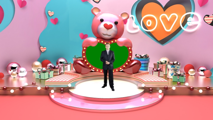 Valentine's Day Decoration Virtual Studio Set