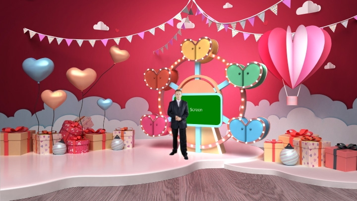 Valentine's Day Decoration Virtual Studio Set-2