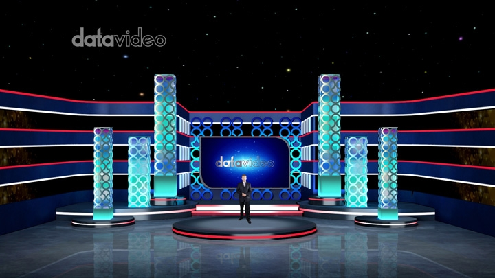 【TVS-3000】Hollow Decorated Stage Virtual Studio
