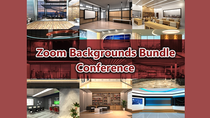Zoom Virtual Backgrounds Bundle_Conference