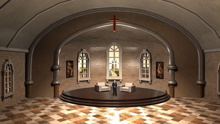 【TVS-2000A】European style cathedral Virtual Studio