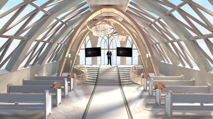 【TVS-2000A】White Wedding Scenery Virtual Studio Set