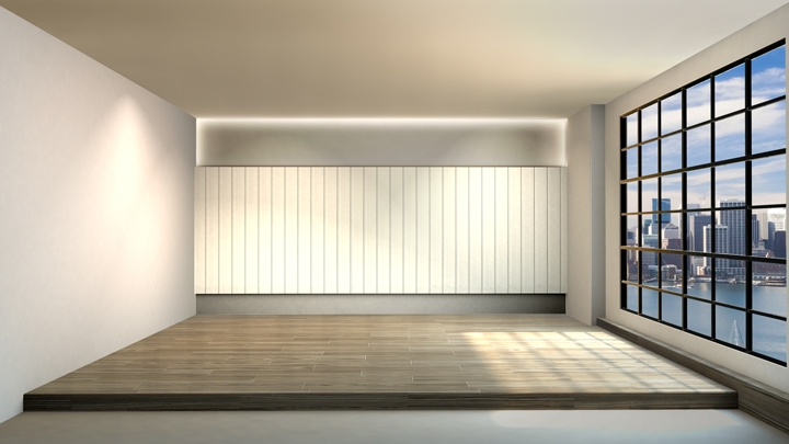 【TVS-2000A Template】Compact meeting space with abundant light
