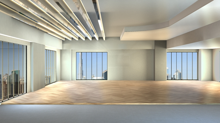 【TVS-2000A Template】Open style modern office space