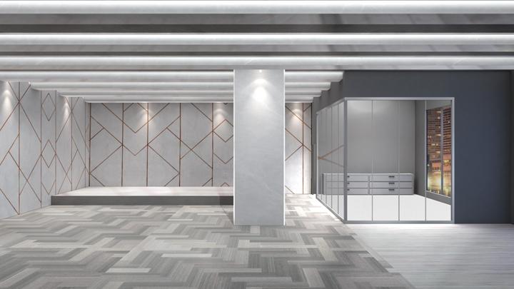 【TVS-2000A Template】Evening Office Scene