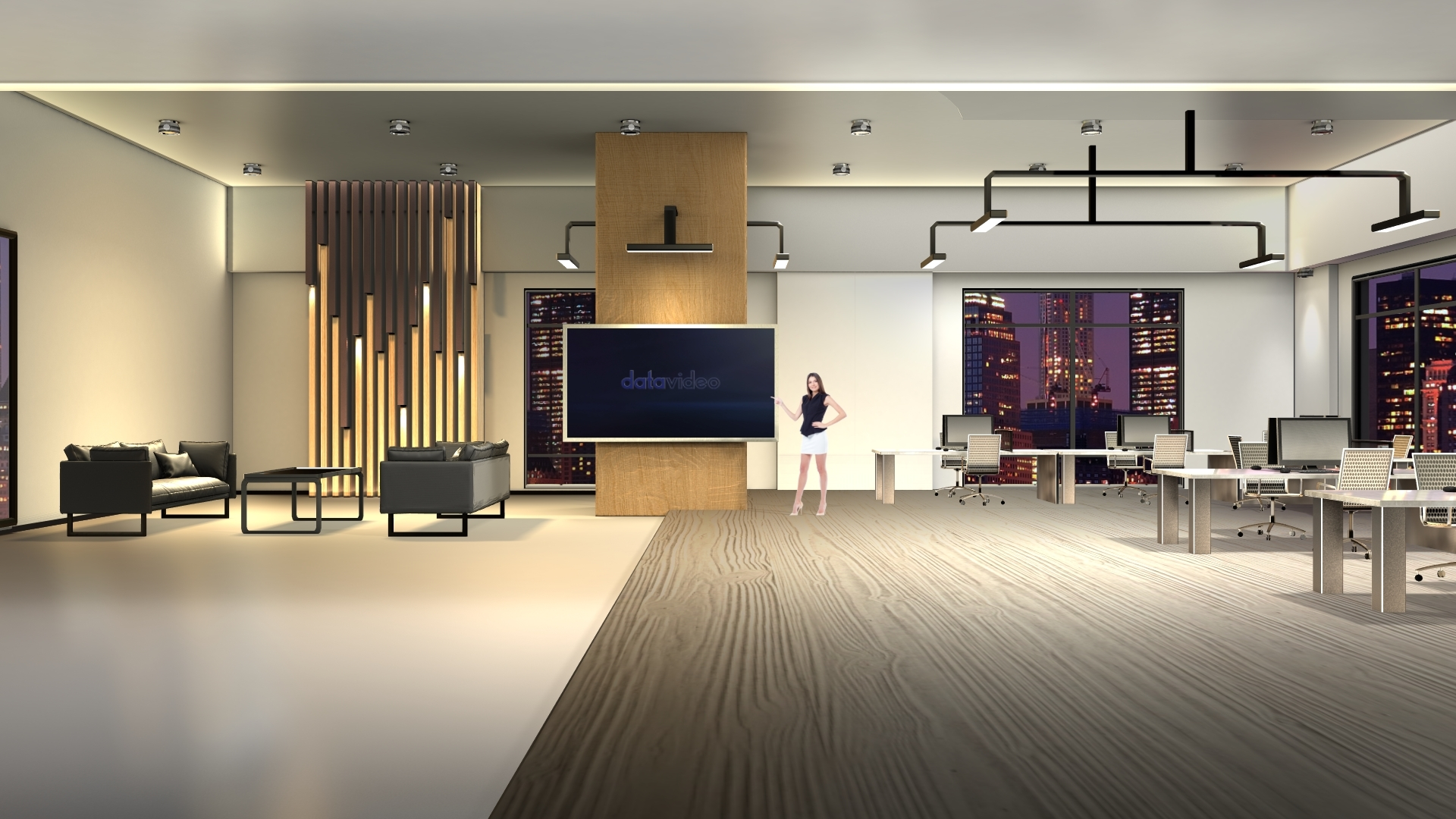 【TVS-2000A】Evening Indoor Style Corporate Meeting Space