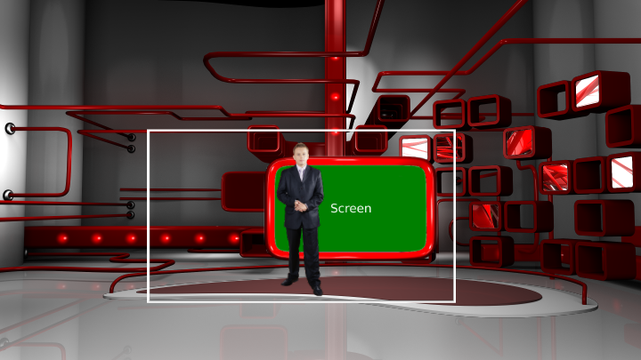 Fashion Red Boxes Virtual Studio
