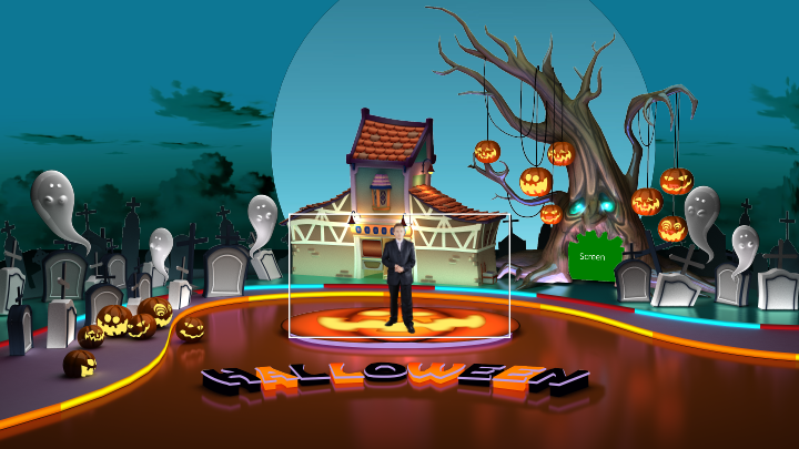 Halloween Virtual Set