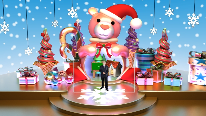 Christmas Virtual Set