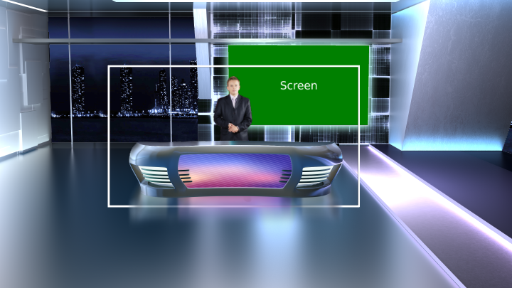 Modern Anchor desk Virtual Set
