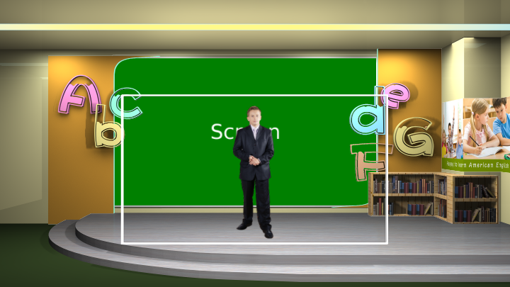 English classroom virtual set