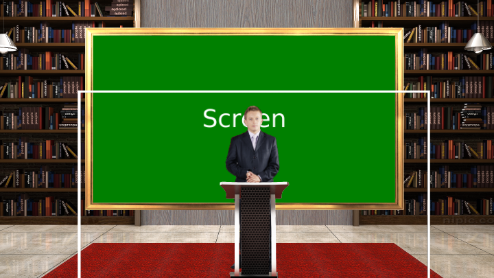 Political Science and history classroom virtual set