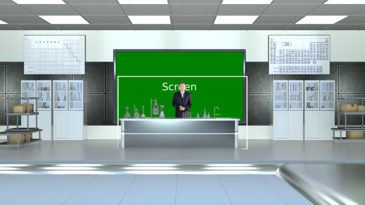 Chemistry classroom virtual set