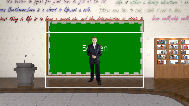English sentences classroom virtual set