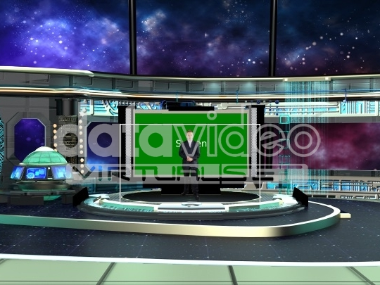 Space Station virtual set