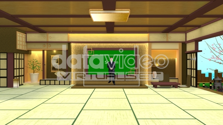 Traditional Japanese house virtual set