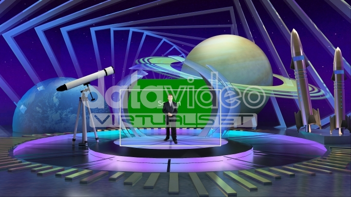 Astronomy and Science Fiction virtual set