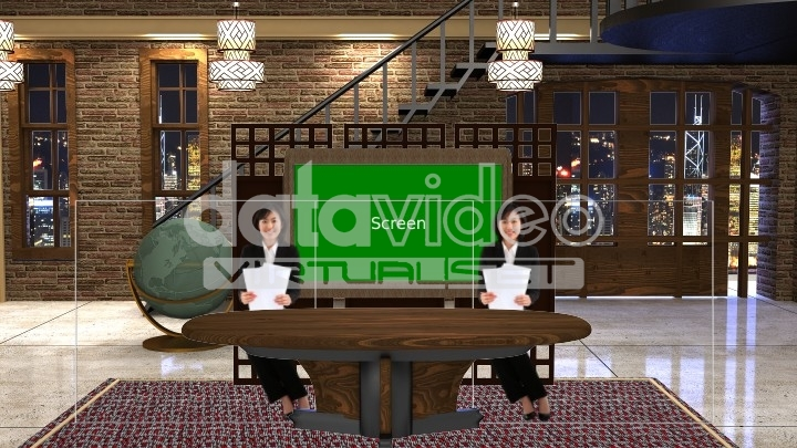 Old house and Talk Show Virtual set