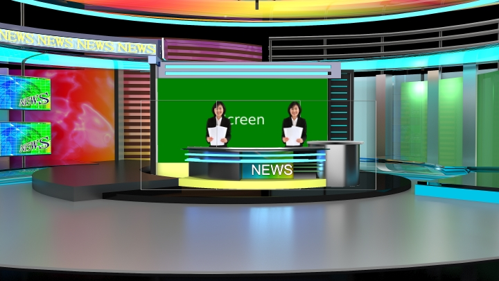 Colorful News Virtual Set