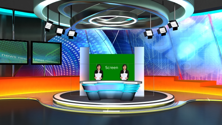 Technological News Program Virtual Set