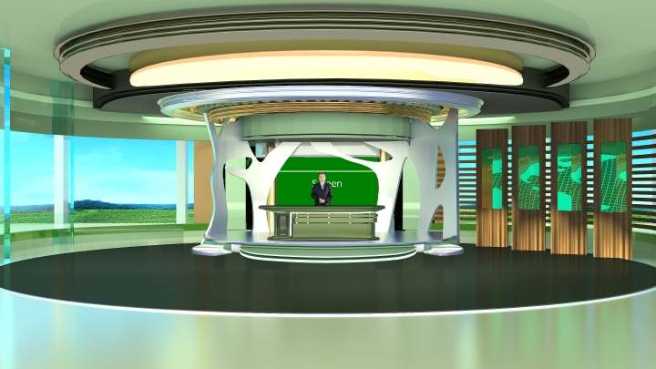 Green Environment Virtual Set