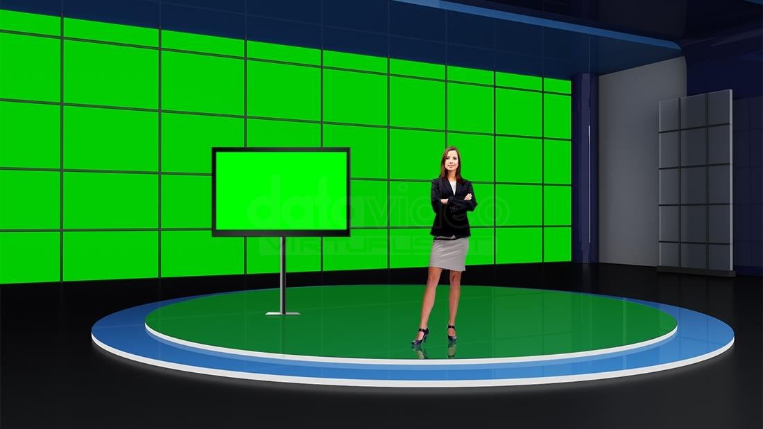 Sports 013 TV Studio Set-Virtual Green Screen Background PSD