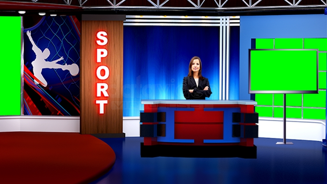 Sports 014 Tv Studio Set Virtual Green Screen Background