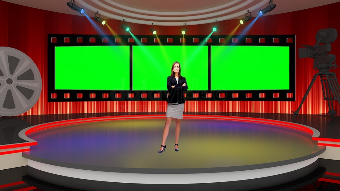 Entertainment 042 TV Studio Set-Virtual Green Screen