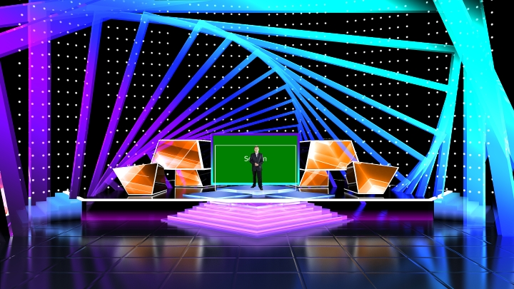 Square Frame Annular Stage Virtual Set
