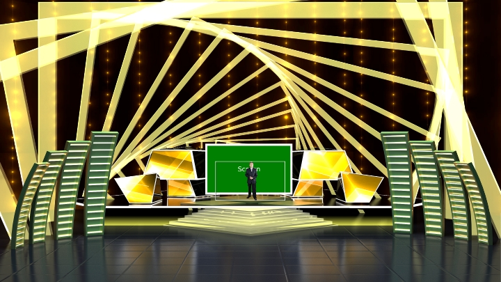 Golden Square Frame Annular Stage Virtual Set
