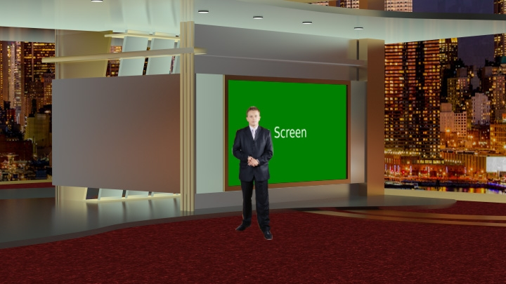 Classic Red Carpet Virtual Set