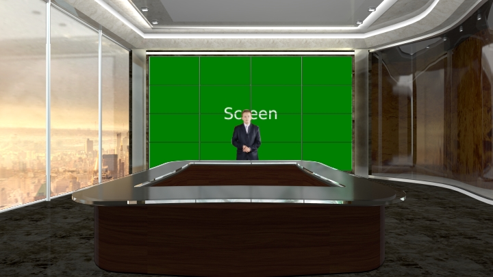 TV Wall Conference Room Virtual Set
